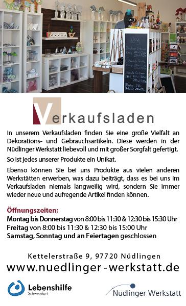 Verkaufsladen Nüdlinger Werkstatt